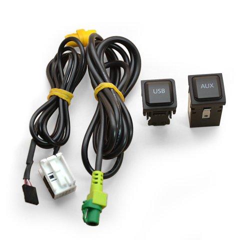 Штатный AUX и USB кабель для Volkswagen с системой RNS510 RCD510