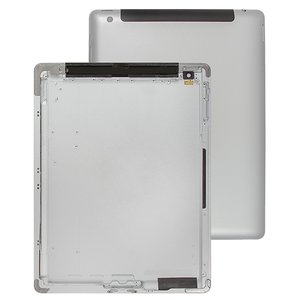 Back Cover for Apple iPad 3 Tablet, (silver, version 3G )
