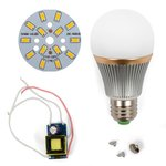 LED Light Bulb DIY Kit SQ-Q22 7 W (warm white, E27)