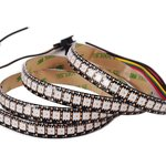 RGB LED Strip SMD5050, WS2813 (with controls, black, IP65, 5 V, 144 LEDs/m, 1 m)