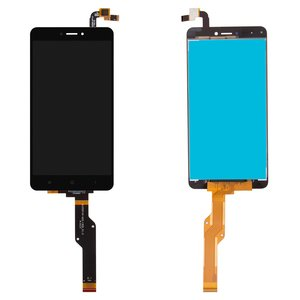 LCD Xiaomi Redmi Note 4X, (black, with touchscreen, Original (PRC), Snapdragon, BV055FHM-N00-1909_R1.0)