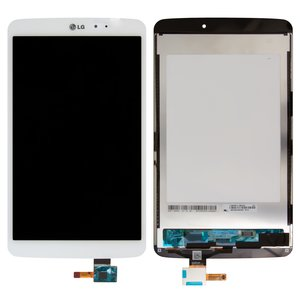 LCD for LG G Pad 8.3 V500 Tablet, (white, with touchscreen)