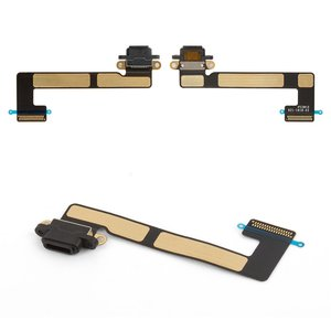 Cable flex para tablet PC Apple iPad Mini 2 Retina, iPad Mini 3 Retina,  del conector de carga, con componentes, negro