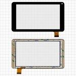 "Cristal táctil China-Tablet PC 7""; Bravis NB70, NB751 3G, NP72; Assistant AP-712B Fun, AP-719B Fan, AP-721N Fan; Globex GU730C; GoClever Insignia 700 Pro; Icoo D70M; Impression ImPAD 5214; Modecom FreeTab 1001 HD 1C, FreeTAB 7001 HD 1C; X-digital TAB 700; Dex iP721; Texet TM-7086, 7"", 104 mm, 186 mm, 30 pin, capacitivo, negro, #LH5920/TPT-070-229 FHX/FPC-TP070215(708B)-00/BLX 269/FM711501KA"