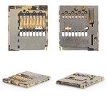 Коннектор карты памяти для мобильных телефонов Nokia 206 Asha, 302 Asha, 308 Asha, 603, 701, 820 Lumia, C2-00, C2-05, C6-01, C7-00, E6-00, N8-00, X2-02, X2-05; Sony F3111 Xperia XA, F3112 Xperia XA Dual, F3113 Xperia XA, F3115 Xperia XA, F3116 Xperia XA Dual, G3412 Xperia XA1 Plus Dual