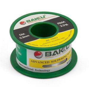 Припой BAKU BK-10003, Sn 97%, Ag 0.3%, Cu 0.7%, flux 2%, 0,3 мм, 50 г