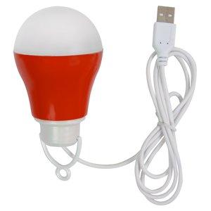 USB LED-светильник 5 Вт (холодный белый, корпус красный, 5 В, 450 лм)