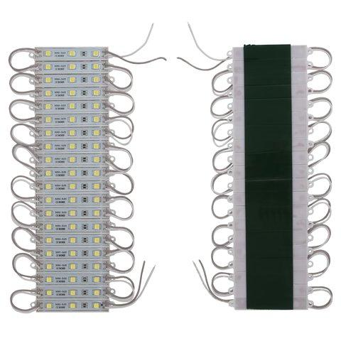 Світлодіодний модуль стрічка SMD 5050, 20 шт. по 3 світлодіоди білий, самоклеючий, 1200 лм, 12 В, IP65
