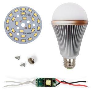 Комплект для сборки светодиодной лампы SQ-Q24 12 Вт (холодный белый, E27), диммируемый