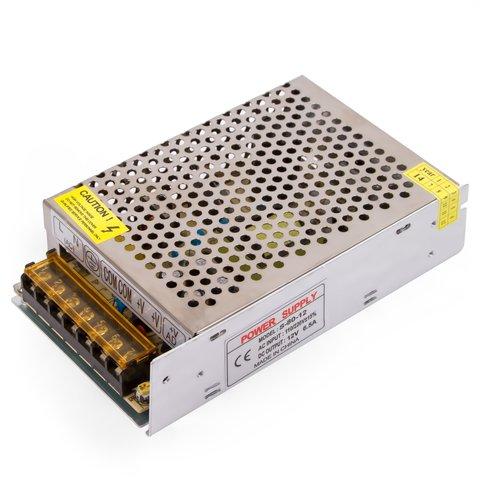 Fuente de alimentación para tiras LED de 12 V, 6.5 A (80 W), 110-220 V