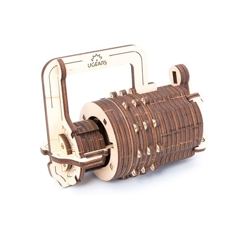 Mechanical 3D Puzzle UGEARS Combination Lock